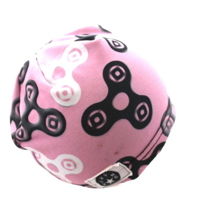Čepice skejťačka spinery - šedé na světle růžové - dětská čepice vyrobeno v ČR