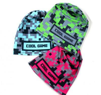 Čepice skejťačka cool game - růžová, zelneá a modrá