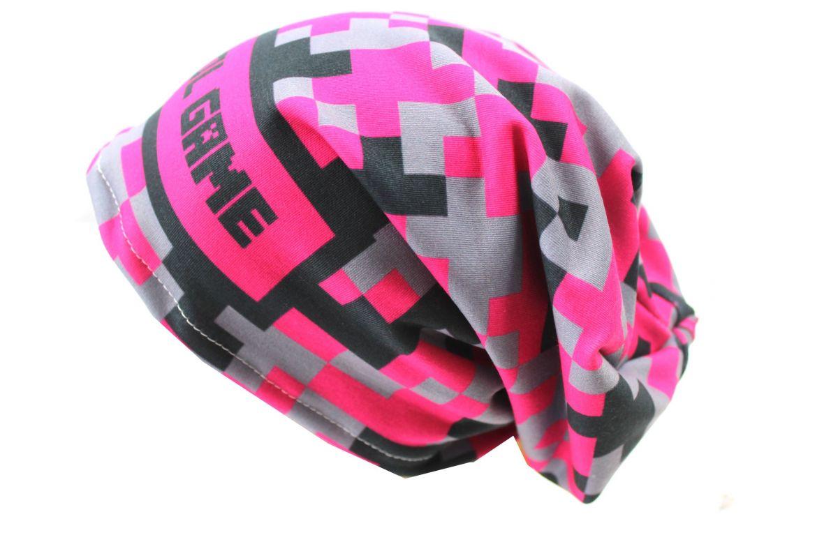 Čepice skejťačka cool game - růžová, zelneá a modrá - dětská čepice - růžová vyrobeno v ČR