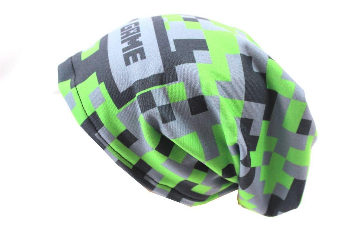Čepice skejťačka cool game - růžová, zelneá a modrá - dětská čepice vyrobeno v ČR