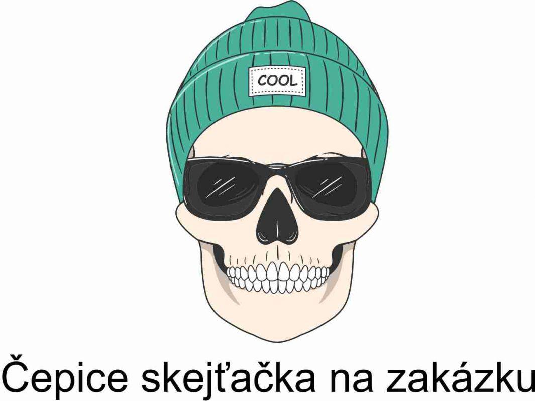 Čepice skejťačka na zakázku vyrobeno v ČR