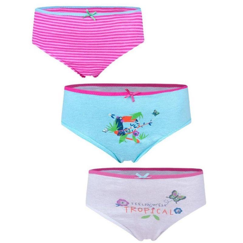 Dívčí kalhotky - 3 pack- tropical vyrobeno v EU