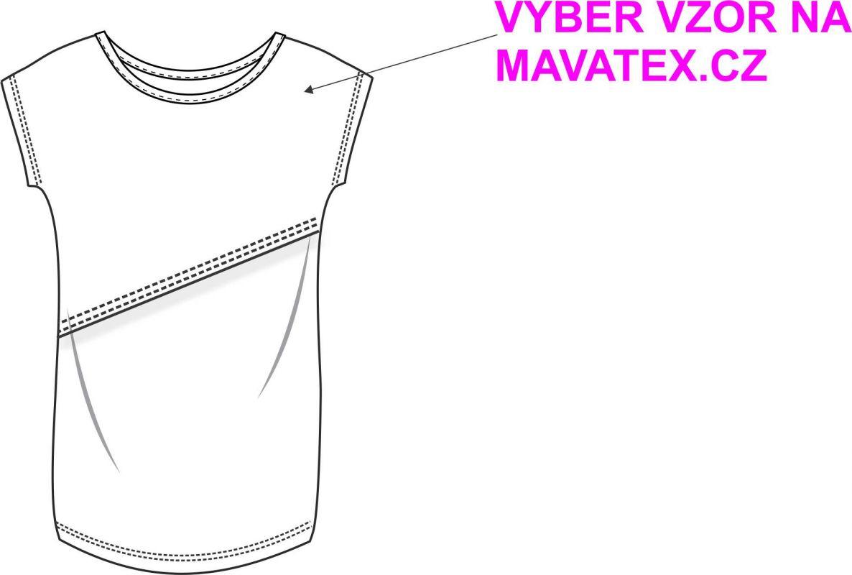Kojící triko basic- VZOR na přání !! vyrobeno v ČR