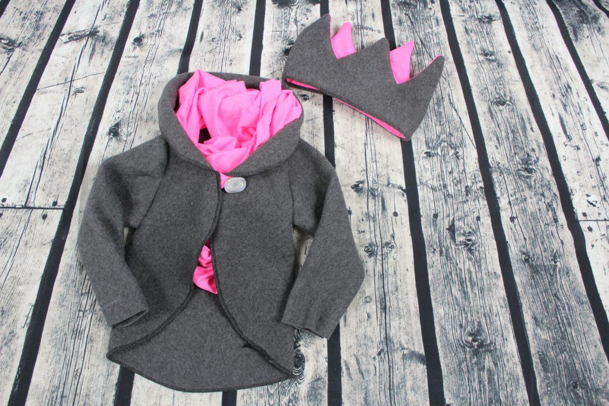 Kolový jarní kabátek easy + korunka - výhodný set vyrobeno v ČR