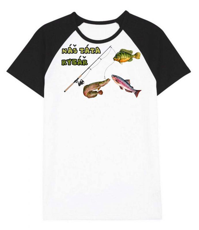 Pánské triko - TÁTA rybář vyrobeno v ČR