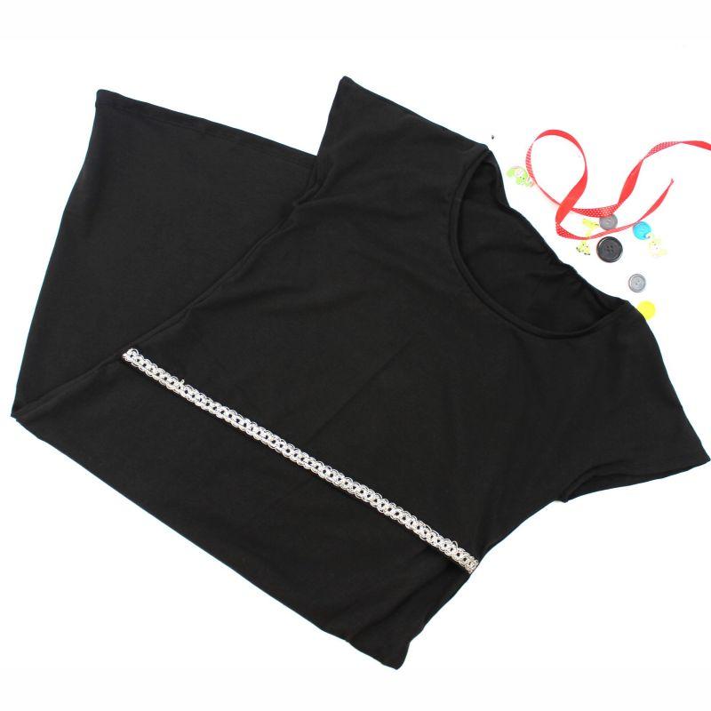 Tunikové šaty kojící - černé vyrobeno v ČR