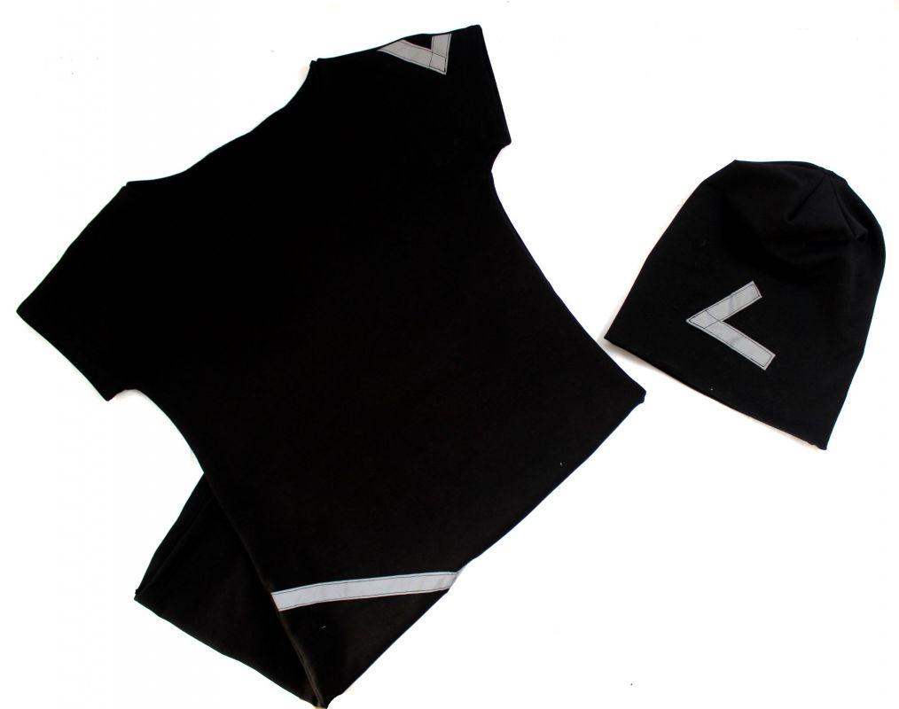 Šaty basic +čepice s reflexními prvky-více barev vyrobeno v ČR