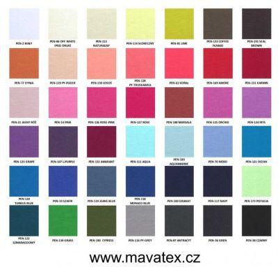 barevnice teplákovina - na poptání