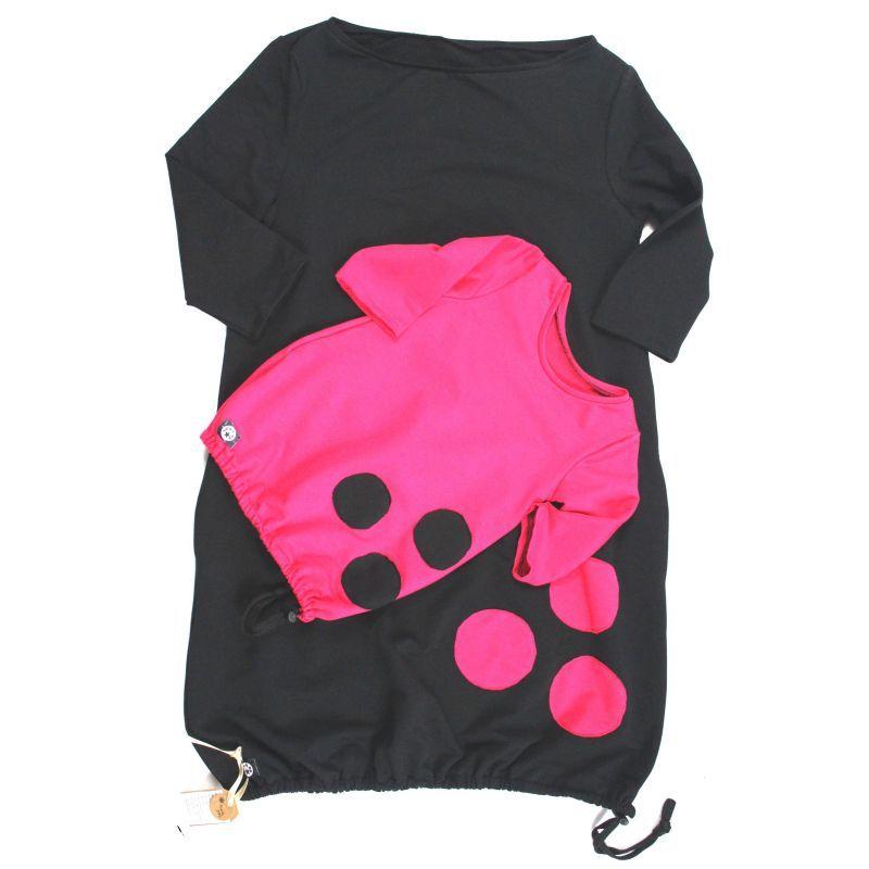 Dámské šaty balonové - UNI barvy na přání vyrobeno v ČR