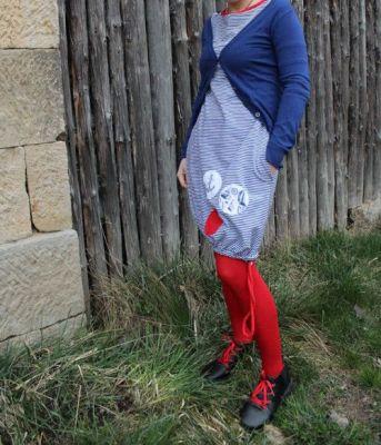 BALONOVÉ šaty SET - proužek- bubliny an přání - cena za set vyrobeno v ČR