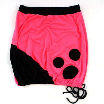 Dámská sukně BALONOVÁ na zavazováni - fluo růžová