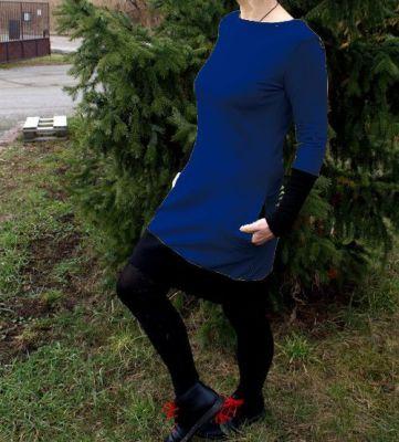 Dámské šaty se spodním rantlem - lime, malina vyrobeno v ČR