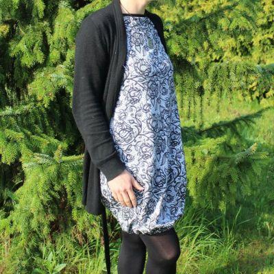 Kojící šaty balonové - UNI nebo VZOR barvy na přání vyrobeno v ČR