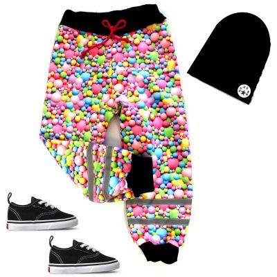 Softshellové kalhoty BASIC- růžové bubliny