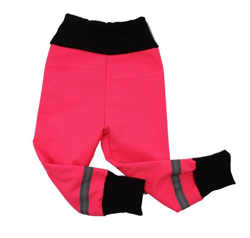 Softshellové kalhoty BASIC- fluo růžová vyrobeno v ČR