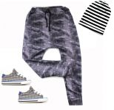 Turkáče BASIC- jeans černá