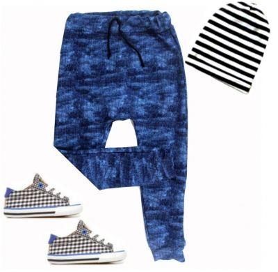 Turkáče BASIC- jeans tmavě modrá