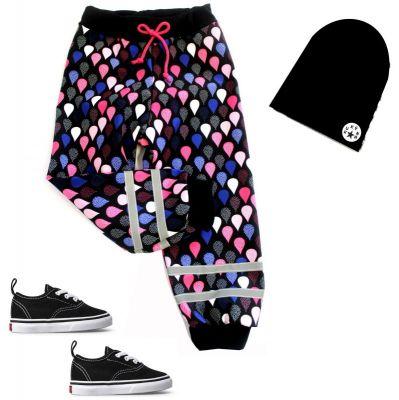 Softshellové kalhoty BASIC- kapky na černé