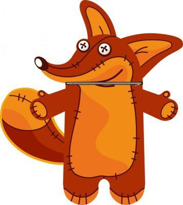 Pyžamožrout  -liška-soft -hotový výrobek
